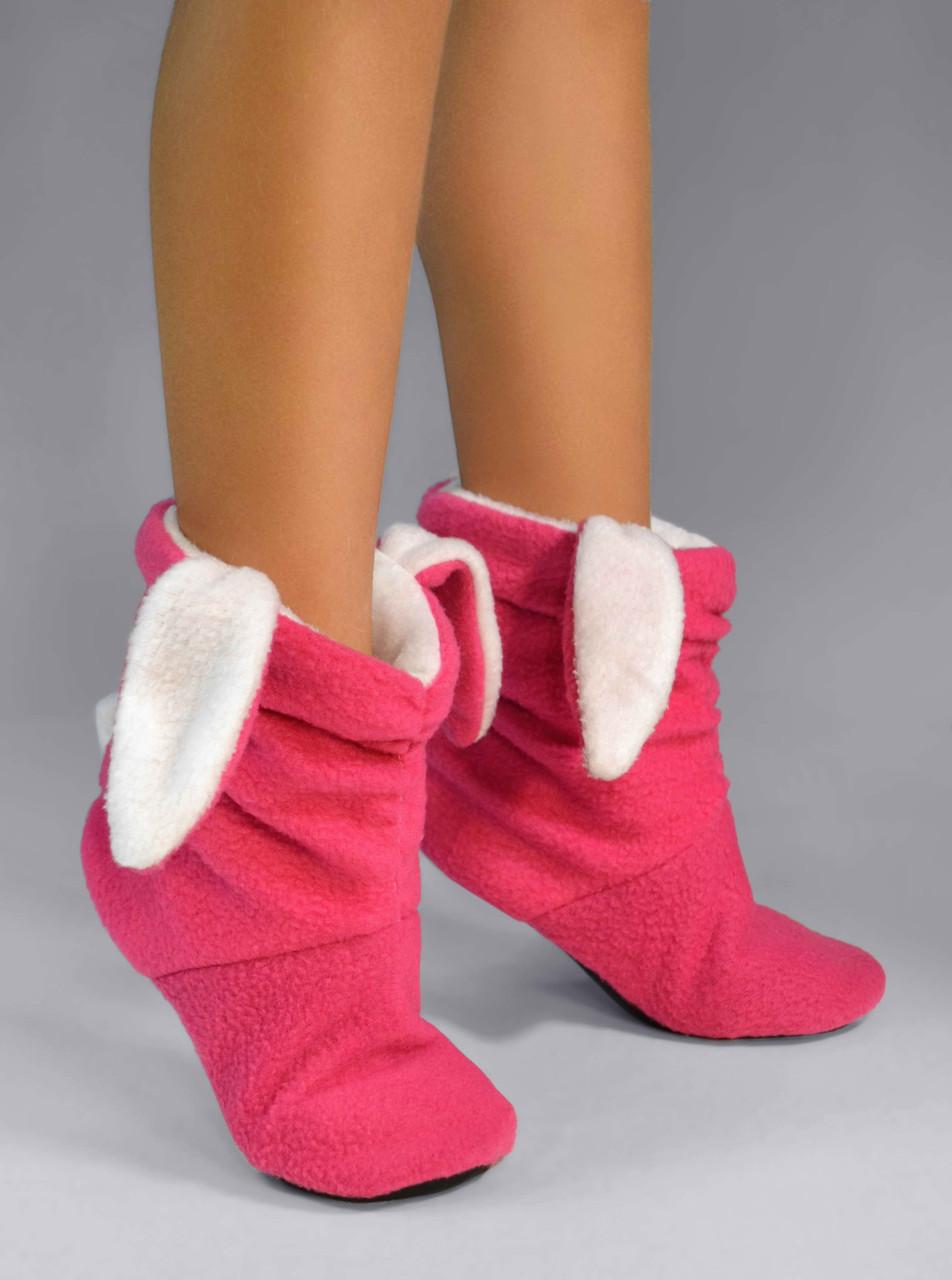 "Детские домашние тапочки td 12 ""Зайчики"" розово-белые"