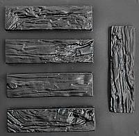 """Комплект """"Древесный скол"""" - 3 формы для гипсовой плитки под дерево 300*80*15 мм. 1 м² = 42 шт."""