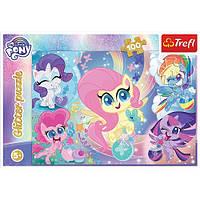 """Пазли -(100 елм.) Глітерні - """"Чарівний світ"""" / Hasbro: My Little Pony"""