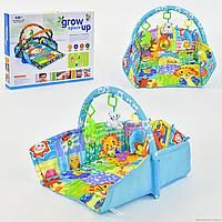 Коврик игровой для детей D 103,  4 подвески, звук, свет, в коробке