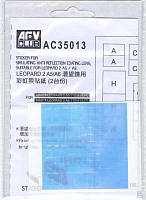 Наклейки для имитации антибликового покрытия линзы. Для моделей танков LEOPARD 2 A5/A6. AFV AC35013
