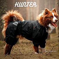 Одежда для собак. Дождевик без подкладки для крупных и средних пород. HUNTER, black