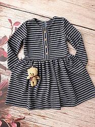 Платье детское с украшением из трикотажной ткани размеры 104-122