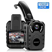 Нагрудная ИК-камера BOBLOV WN10 64 ГБ, Ночное видение 1080P , нагрудный видеорегистратор, Боди-камера