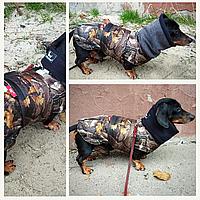 Одежда для собак куртка жилет дождевик зимняя теплая водостойкая Попона для такс Active dog ( forest)