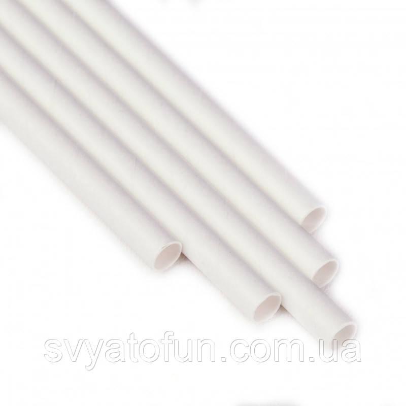 Трубочки для напитков картонные белые 10шт/уп