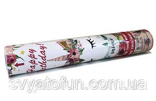 Хлопушка Единорог цветы 30см