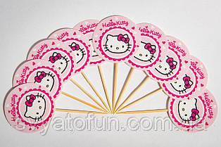 """Топпери для кексів """"Hello Kitty"""" (10шт/уп)"""
