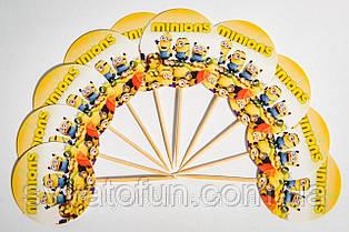 """Топпери для кексів """"Міньйон"""" (10шт/уп)"""