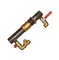 """Байпас 2"""" короткий з клапаном для систем опалення та циркуляційного насоса, фото 1"""