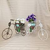 Подставка для цветов кованая Велоcипед Мальва черный/золото, фото 6