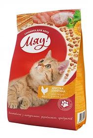 Сухий корм Meow 0,4 кг з куркою для котів