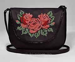 "Сумочка ""Monika"" 20 чорна з трояндами"