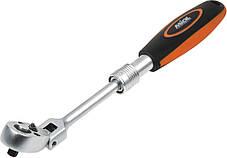 Ключ трещоточный раздвижной Miol 58-190 1/4 72 зубца