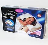 Ортопедическая подушка для сна Memory Pillow с памятью БЕЛАЯ, фото 8