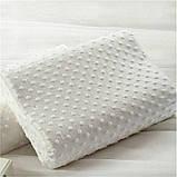 Ортопедическая подушка для сна Memory Pillow с памятью БЕЛАЯ, фото 7