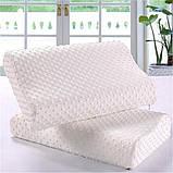 Ортопедическая подушка для сна Memory Pillow с памятью БЕЛАЯ, фото 5
