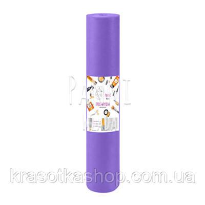Одноразовая простынь в рулоне Panni Mlada 0,8*100м спанбонд 20 г/м2, фиолетовый