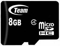 Карта пам'яті Team microSDHC 8GB Class 4 (без адаптера) (TUSDH8GCL402)