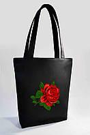 """Жіноча сумка """"Троянда"""" Б320 - чорна"""