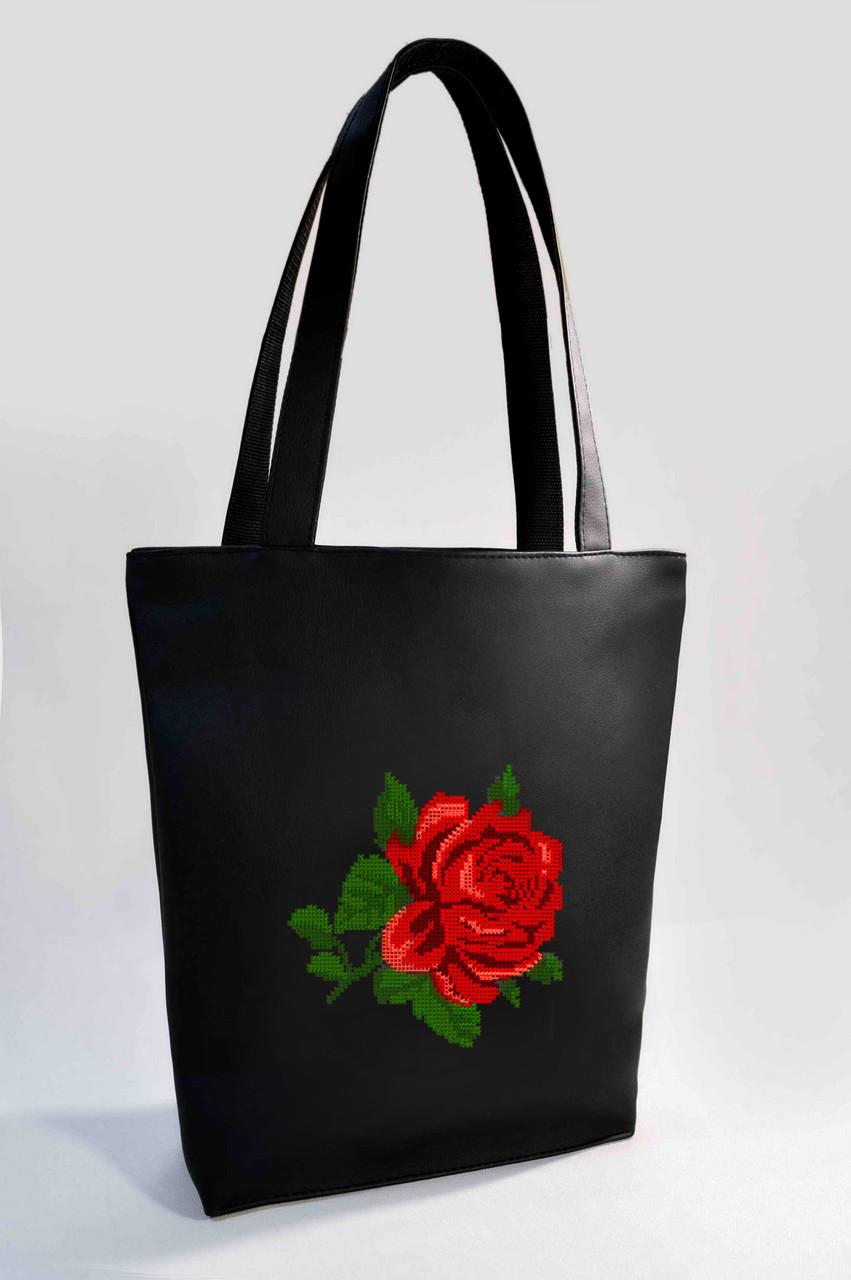 "Женская сумка ""Роза"" Б320 - черная"