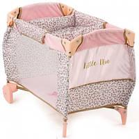Кроватка манеж для кукол Hauck By Little Diva D-90186 Розовый