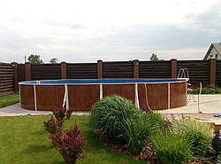 Басейн 7,3х3,7х1,2м каркасний овальний морозостійкий збірний Mountfield (Чехія) 405 DL без обладнання