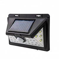 Светодиодный Навесной фонарь с датчиком движения Solar 1828A + solar 30 диодов, фото 1