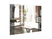 Зеркало 100х80 Виола белый глянец/черный мат