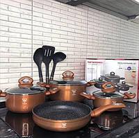 Набор посуды с мраморным покрытием Top Kitchen TK 00082 Набор кастрюль и сковорода