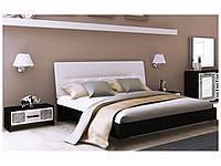 Спальный гарнитур Виола белый глянец/черный мат 3