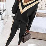 Женский костюм, турецкая двунить, р-р 42-44; 44-46 (чёрный), фото 3