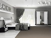 Комплект мебели Виола белый глянец/черный мат