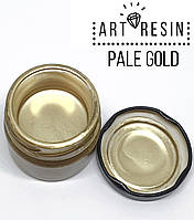 Хромована рідка фарба (Італія) для ефектів в декорі. Світле золото, Art Resin №3