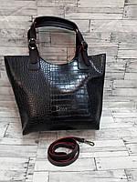 """Женская стильная сумка реплика """"Диор"""" рептилия"""