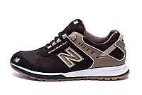 Чоловічі шкіряні кросівки NB Clasic Brown (репліка)