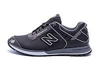 Чоловічі шкіряні кросівки NB Clasic Black (репліка)
