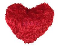 Подушка сердце травка красная