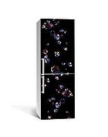 Декор 3Д наклейка на холодильник Прозрачны Алмазы Кристалл (пленка ПВХ фотопечать) 65*200см Абстракция Черный