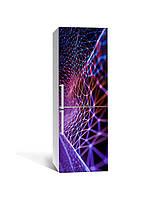 Декор 3Д наклейка на холодильник Цифровая Паутина (пленка ПВХ фотопечать) 65*200см Абстракция Фиолетовый