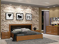 Спальный гарнитур Белла черный глянец-вишня бюзум 1
