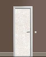 Декоративная наклейка на двери Светлый Камень Мрамор ПВХ пленка с ламинацией 65*200см Текстуры Бежевый