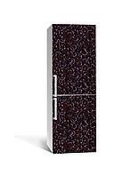 Виниловая 3Д наклейка на холодильник Кованые Узоры Завитки (пленка ПВХ) 65*200см Текстуры Коричневый