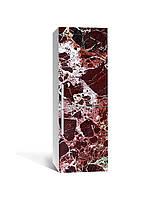 Наклейка на холодильник Шоколадний Мармур Камінь (плівка ПВХ фотодрук) 65*200см Текстура Коричневий