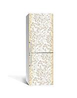 Декор 3Д наклейка на холодильник Пастельні тони Візерунки (плівка ПВХ фотодрук) 65*200см Абстракція Бежевий