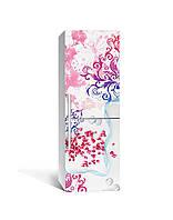Декор 3Д наклейка на холодильник Зерна Граната Узоры (пленка ПВХ фотопечать) 65*200см Абстракция Розовый