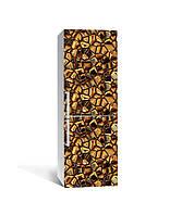 Декор 3Д наклейка на холодильник Золотые слитки Алмазы (пленка ПВХ фотопечать) 65*200см Текстуры Коричневый