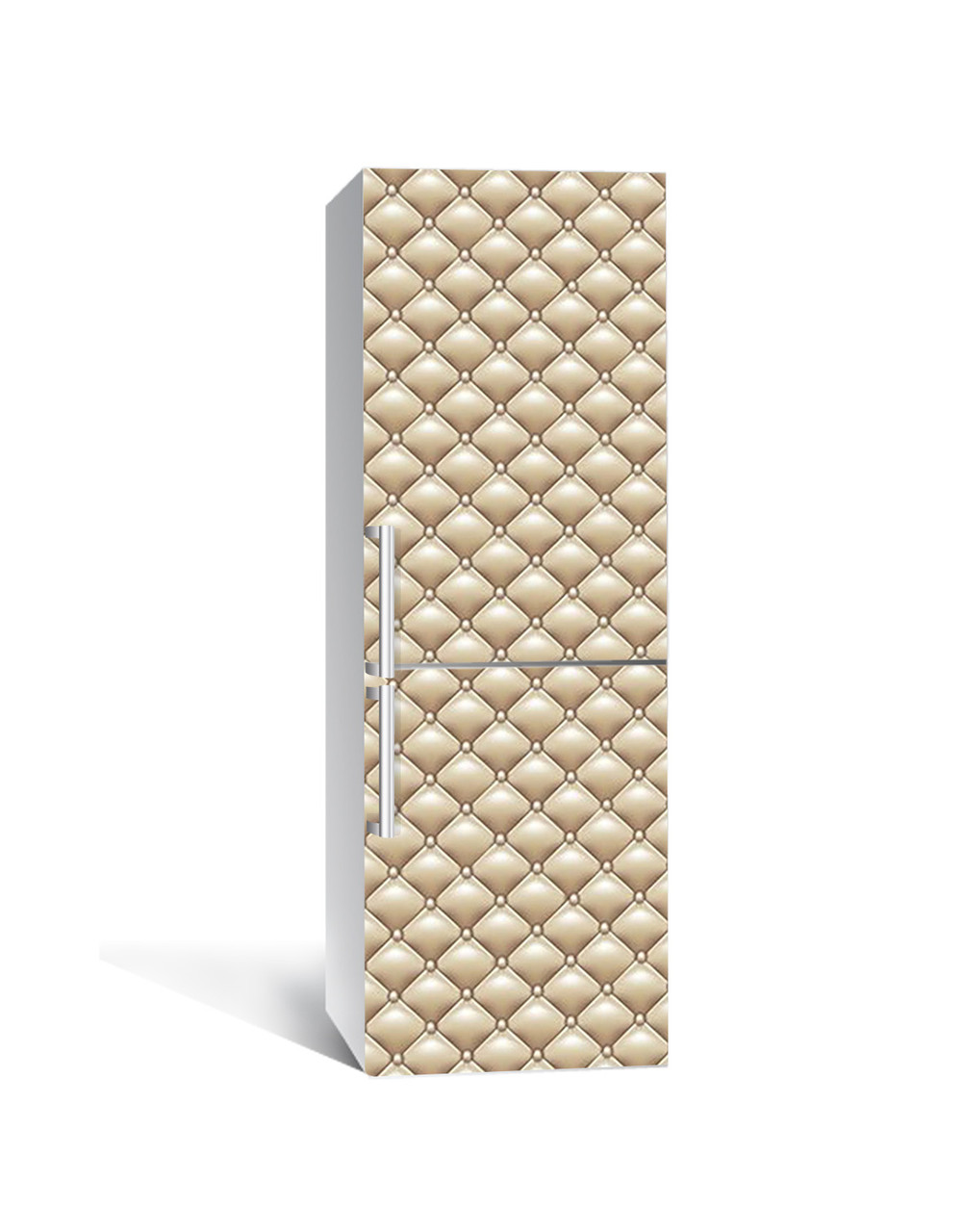 Наклейка на холодильник Под кремовую кожу Кожаный (пленка ПВХ с ламинацией) 65*200см Текстуры Бежевый