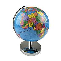 Глобус 20 см диаметр Колір: Синій. З подсветкой, фото 1