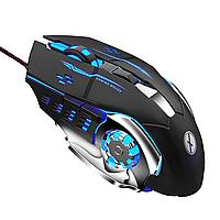 Игровая геймерская компьютерная мышь TINJI TJ-7 с LED подсветкой + коврик для мыши в ПОДАРОК !!!